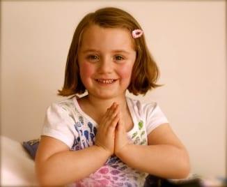 Giselle, who loves yoga!