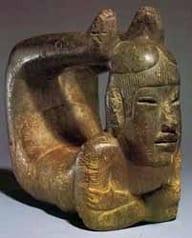 Mayan Yoga Statue