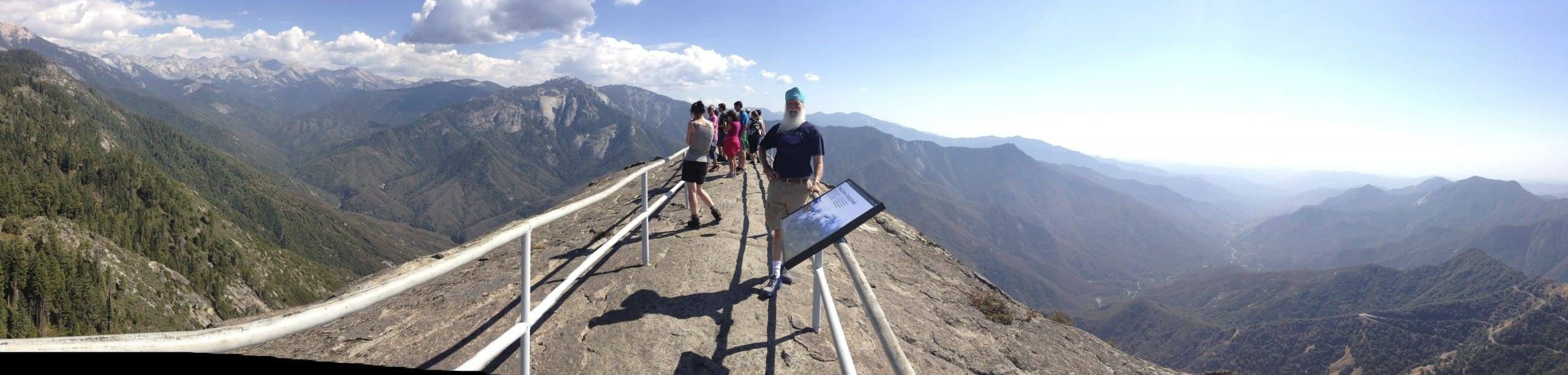 Top of Moro Rock, Sierras on one side, Giant Forest on the other