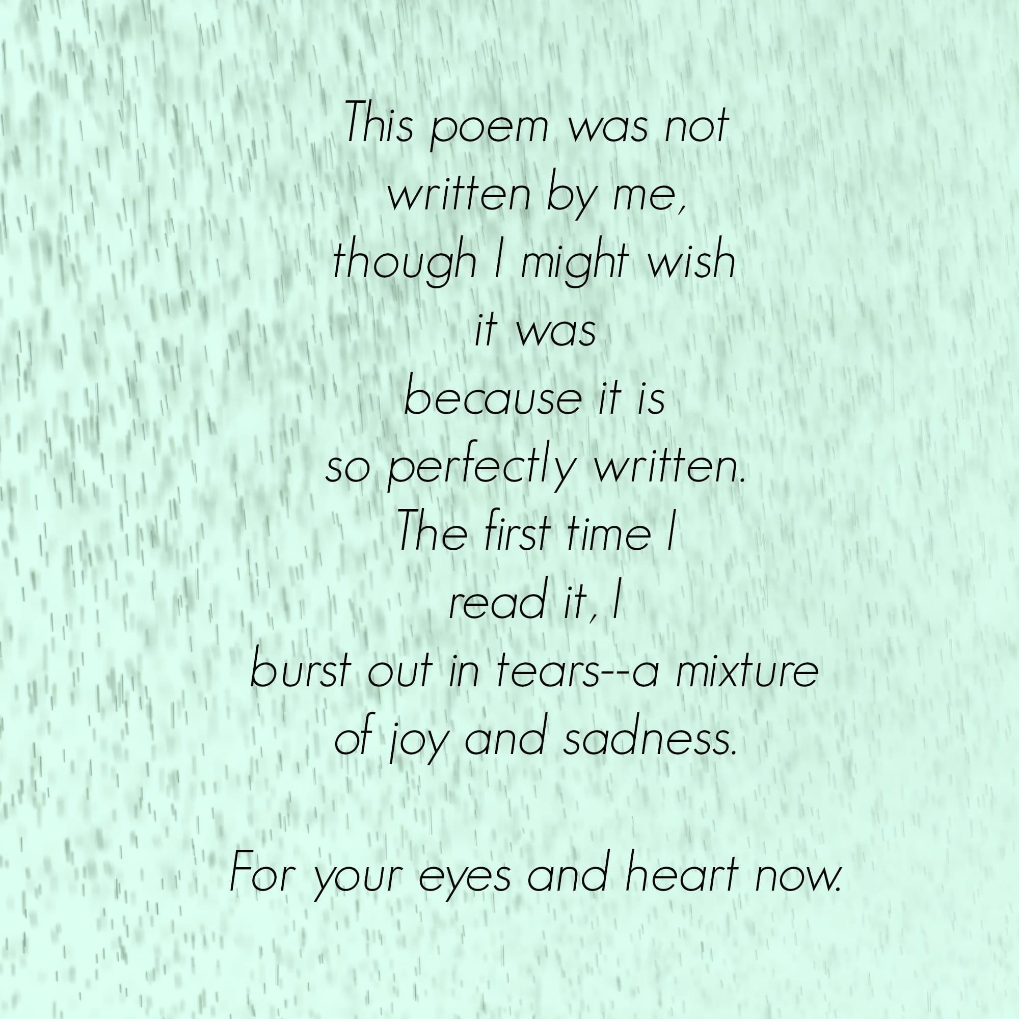 intro to poem