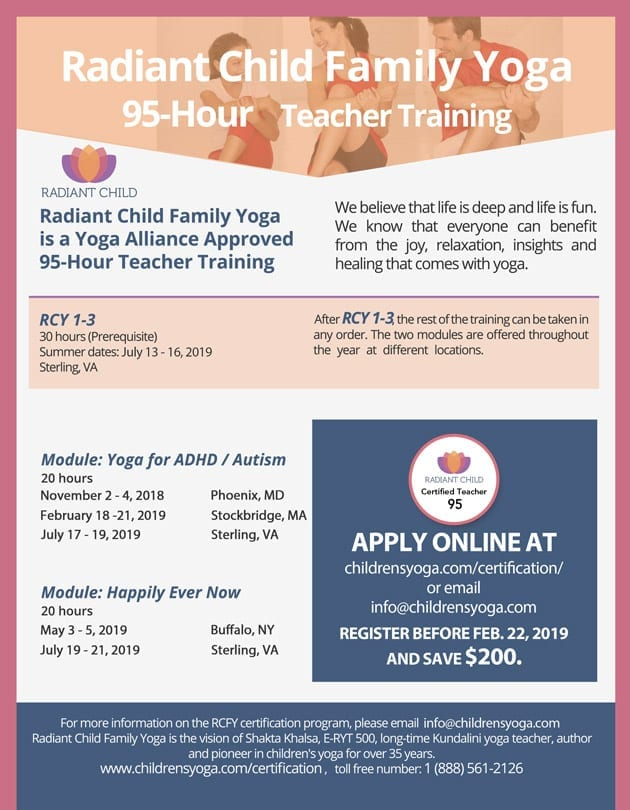 95-Hour Certification (RCFY-95) | Radiant Child Yoga